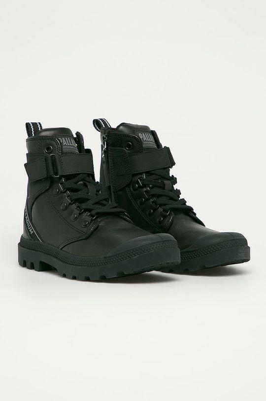 Palladium - Kožené boty černá