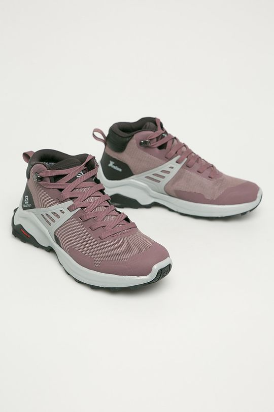 Salomon - Pantofi X Raise Mid GTX roz murdar