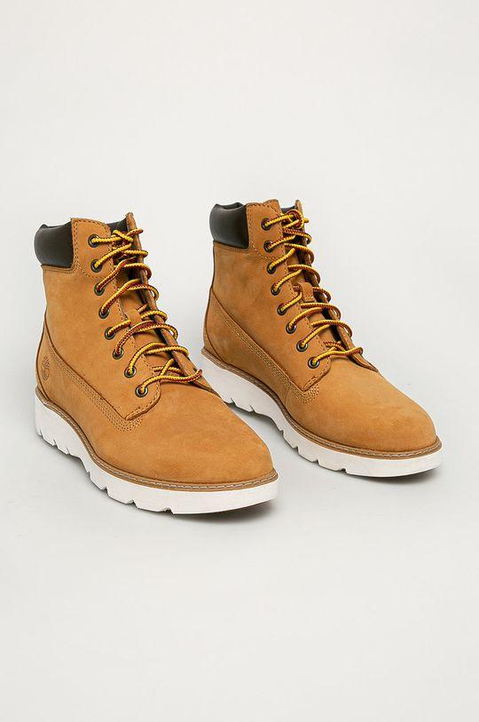 Timberland - Pantofi Keeley Field maro auriu