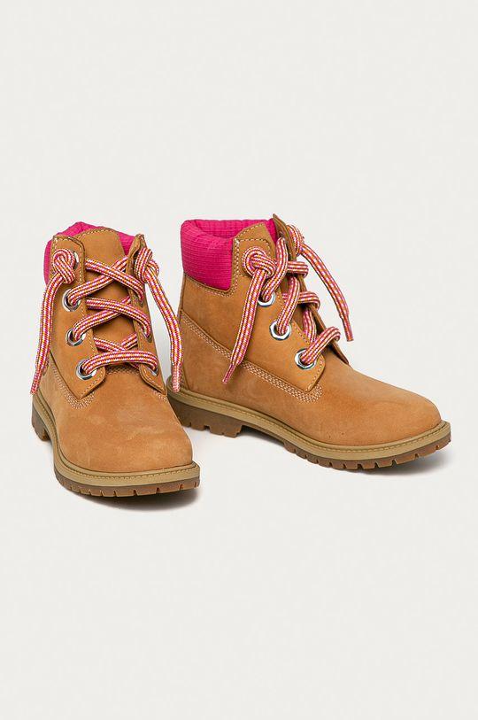 Timberland - Semišové boty Heritage 6 In zlatohnědá