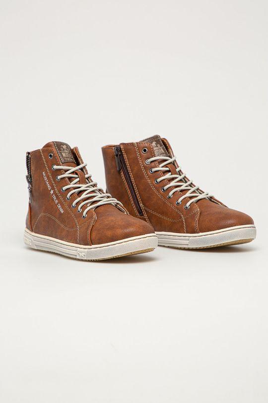 Mustang - Topánky zlatohnedá