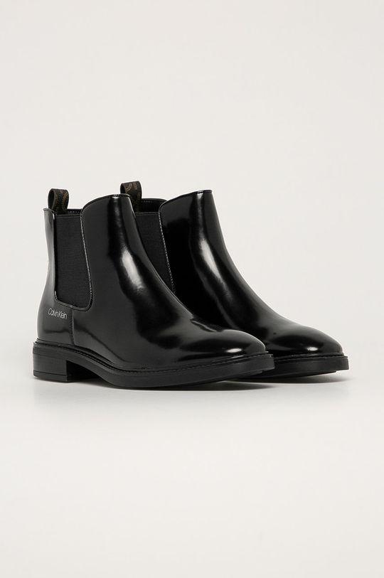 Calvin Klein - Boty s gumou černá