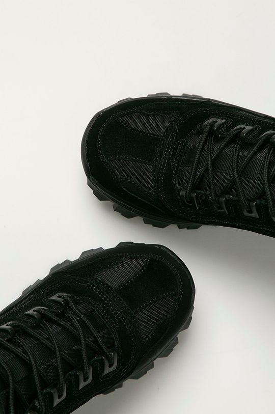 černá Skechers - Kožené boty