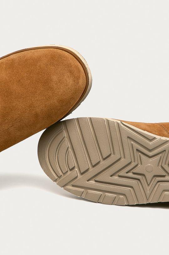 maro auriu Skechers - Cizme de zapada din piele intoarsa