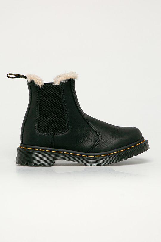 černá Dr. Martens - Kožené kotníkové boty 2976 Leonore Dámský