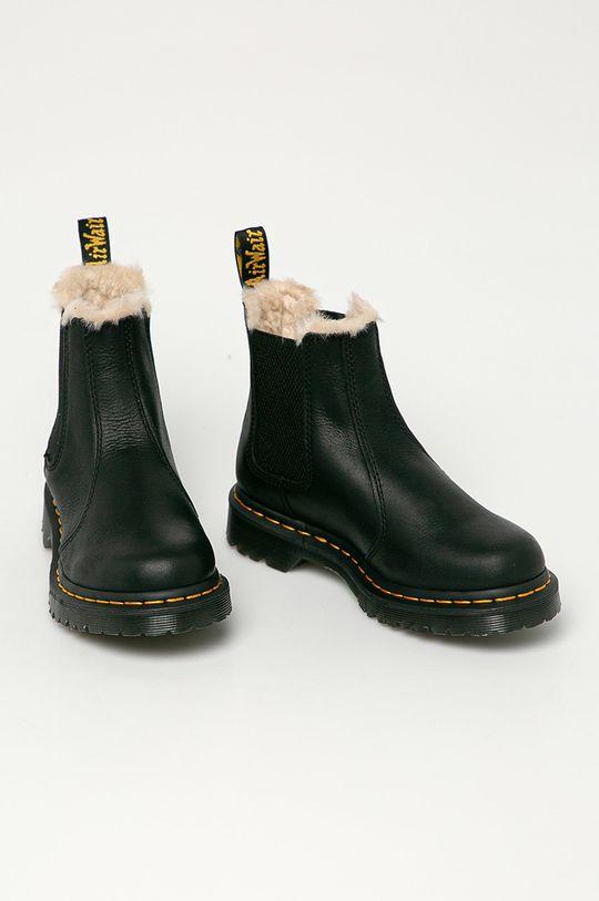 Dr. Martens - Kožené kotníkové boty 2976 Leonore černá