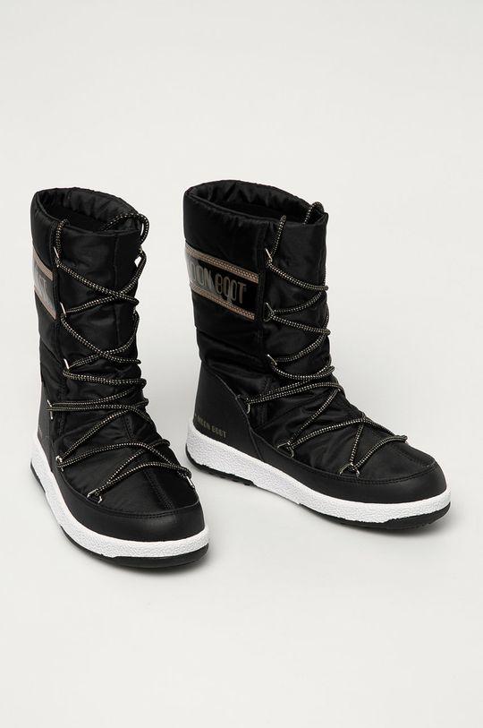 Moon Boot - Cizme de iarna JR G.Quilted negru