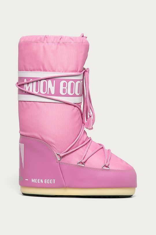 różowy Moon Boot - Śniegowce Nylon Damski