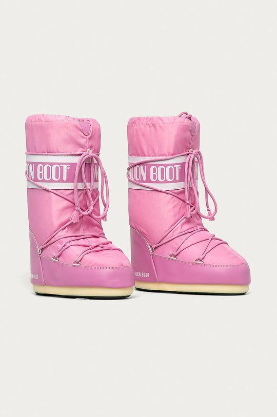 Moon Boot - Śniegowce Nylon różowy
