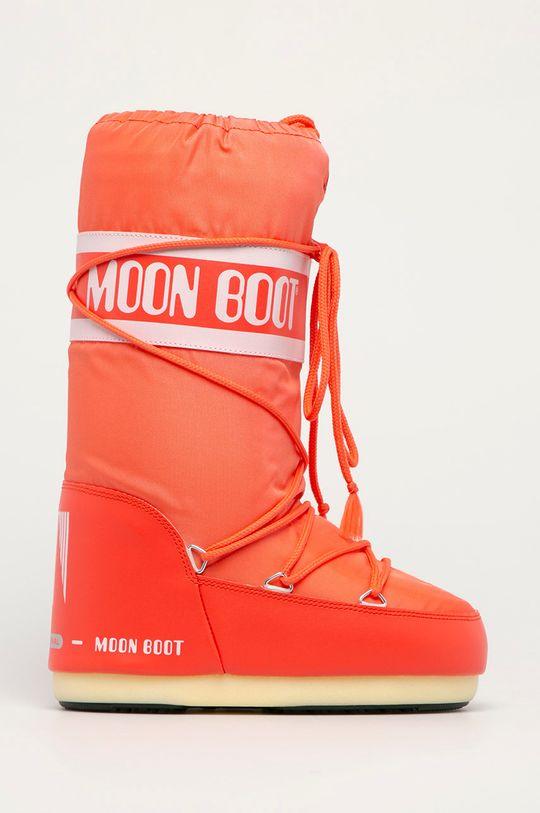 czerwony Moon Boot - Śniegowce Nylon Damski