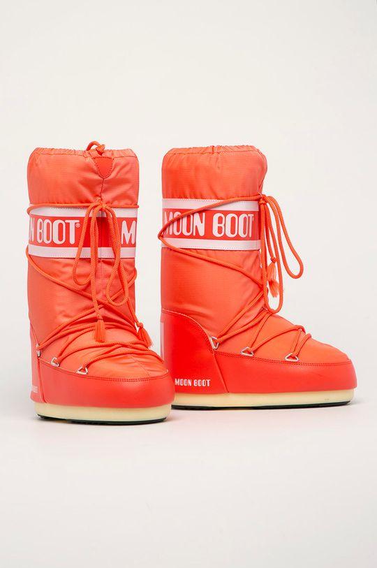 Moon Boot - Śniegowce Nylon czerwony