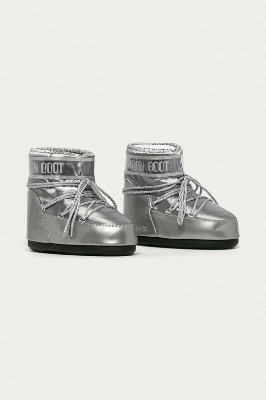 Moon Boot - Sněhule Classic Low Glance stříbrná