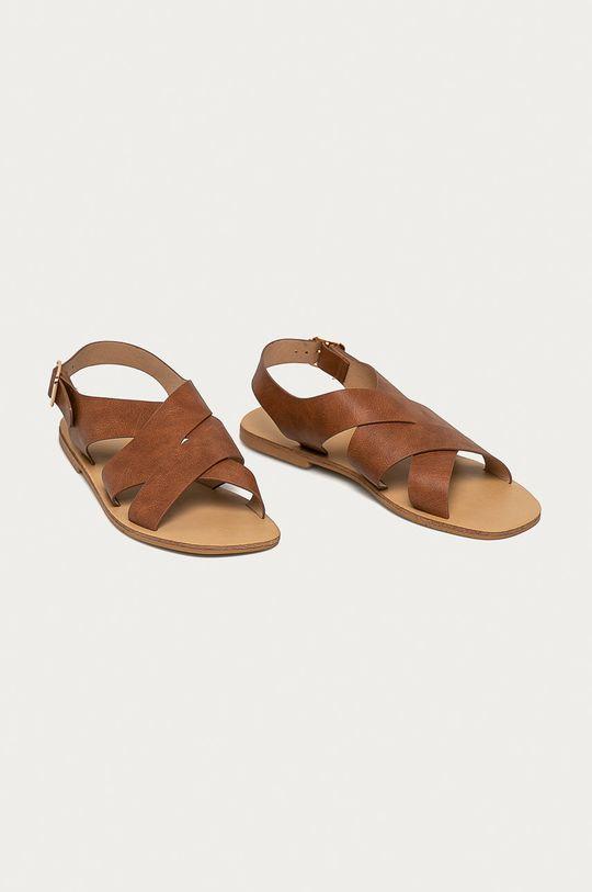 Glamorous - Sandály hnědá