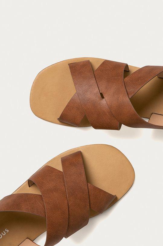 hnědá Glamorous - Sandály
