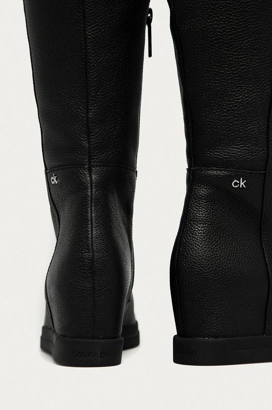Calvin Klein - Kožené kozačky  Svršek: Přírodní kůže Vnitřek: Textilní materiál Podrážka: Umělá hmota