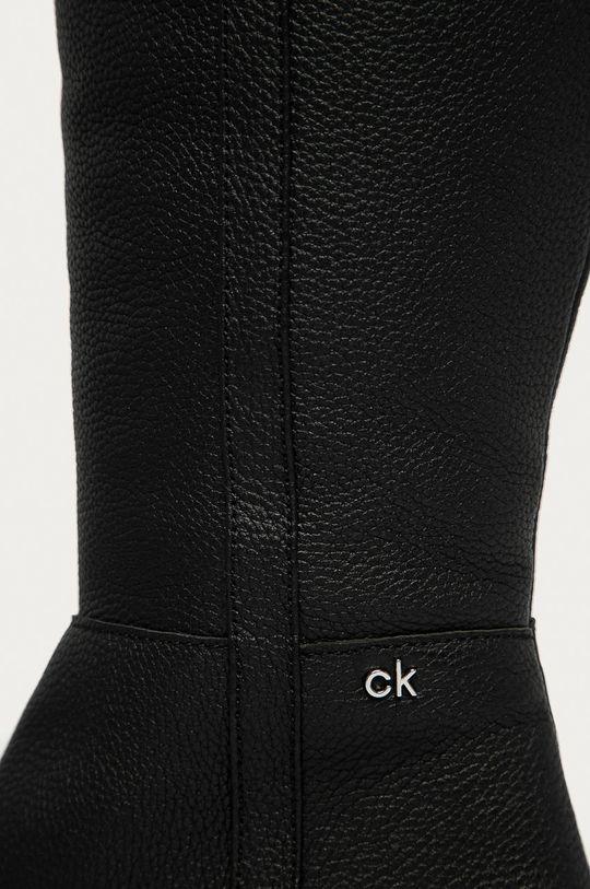 Calvin Klein - Kožené kozačky Dámský