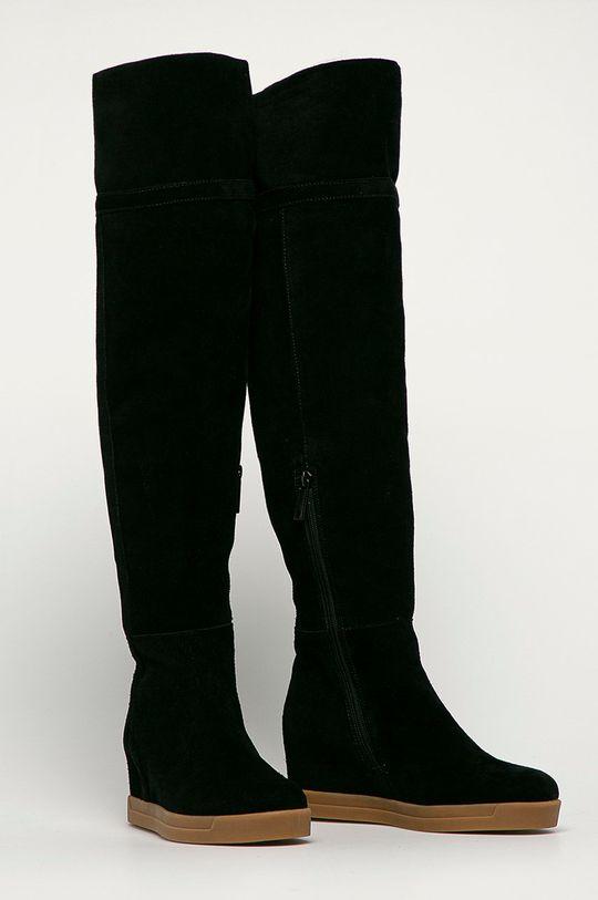 Calvin Klein - Kozaki zamszowe czarny