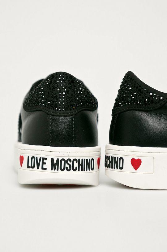 Love Moschino - Cipő  Szár: szintetikus anyag, természetes bőr Belseje: szintetikus anyag, textil Talp: szintetikus anyag