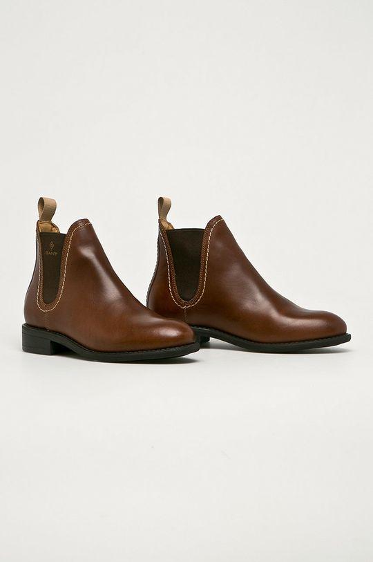 Gant - Sztyblety skórzane Ainsley brązowy