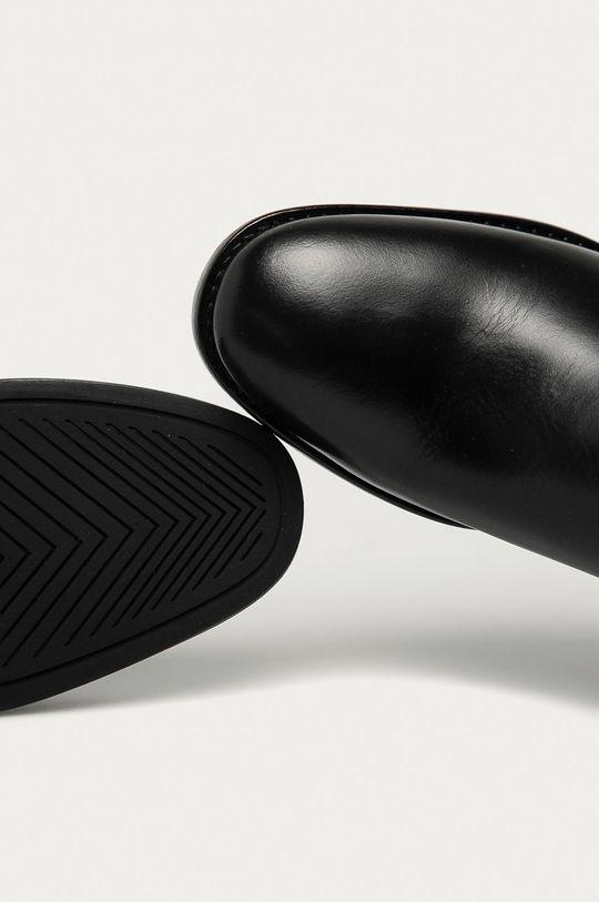 czarny Gant - Sztyblety skórzane Fayy
