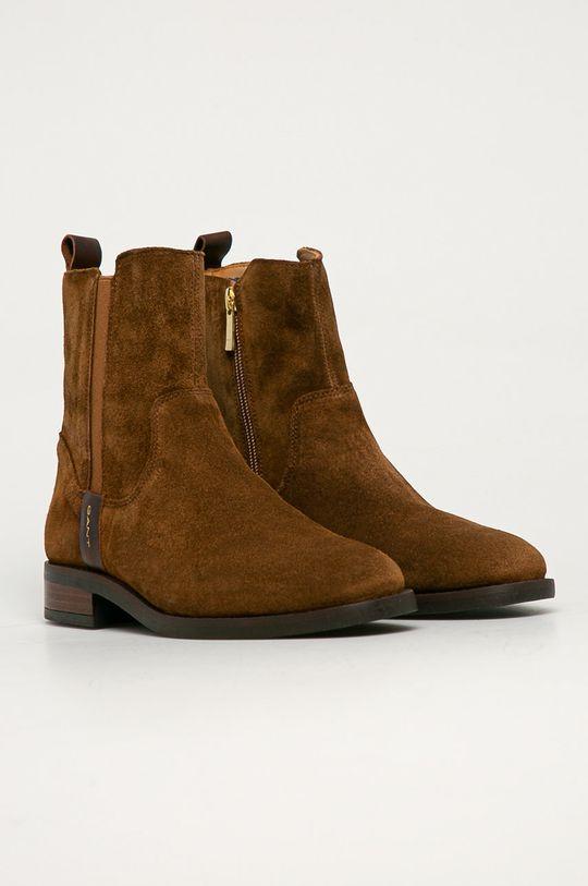 Gant - Semišové boty Fayy kávová