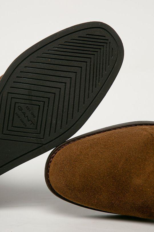 kávová Gant - Semišové boty Fayy