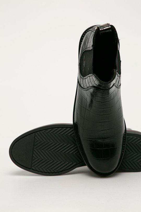 negru Gant - Ghete Chelsea de piele Maliin