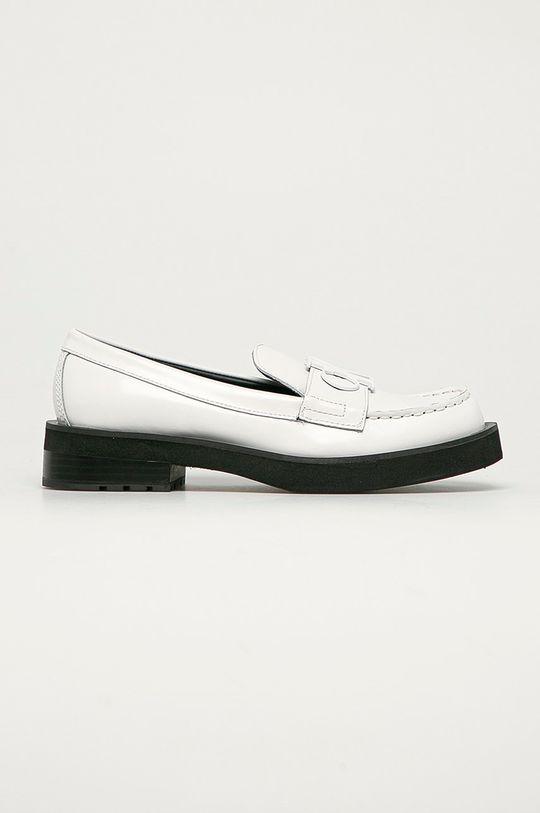 alb Calvin Klein Jeans - Mocasini de piele De femei
