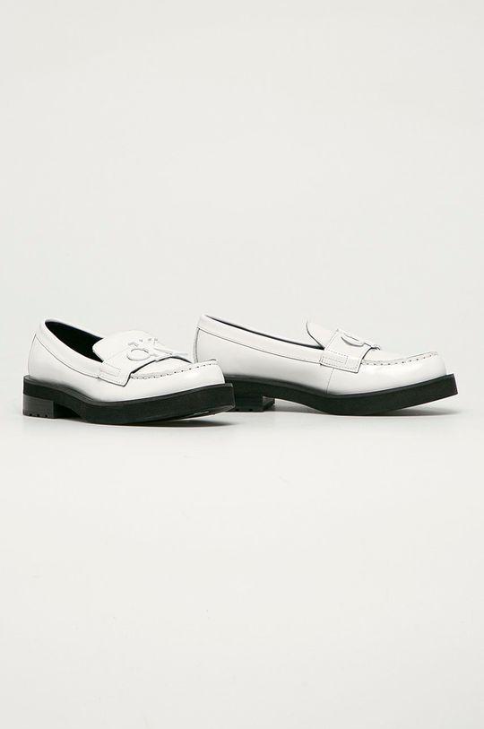 Calvin Klein Jeans - Mocasini de piele alb