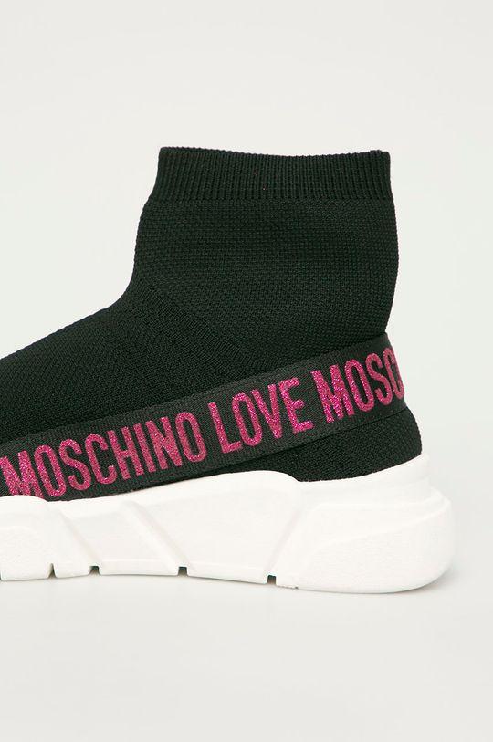 Love Moschino - Boty  Svršek: Umělá hmota, Textilní materiál Vnitřek: Umělá hmota, Textilní materiál Podrážka: Umělá hmota