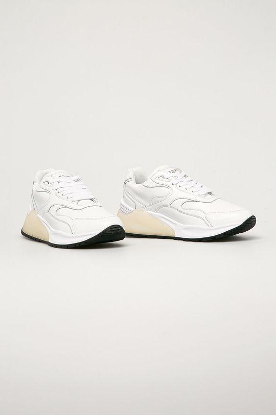 U.S. Polo Assn. - Kožené boty bílá