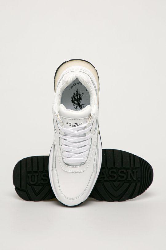 bílá U.S. Polo Assn. - Kožené boty
