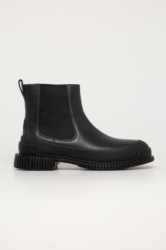 černá Camper - Kožené kotníkové boty Pix Dámský