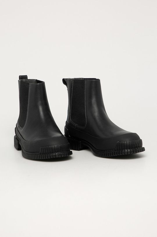 Camper - Kožené kotníkové boty Pix černá