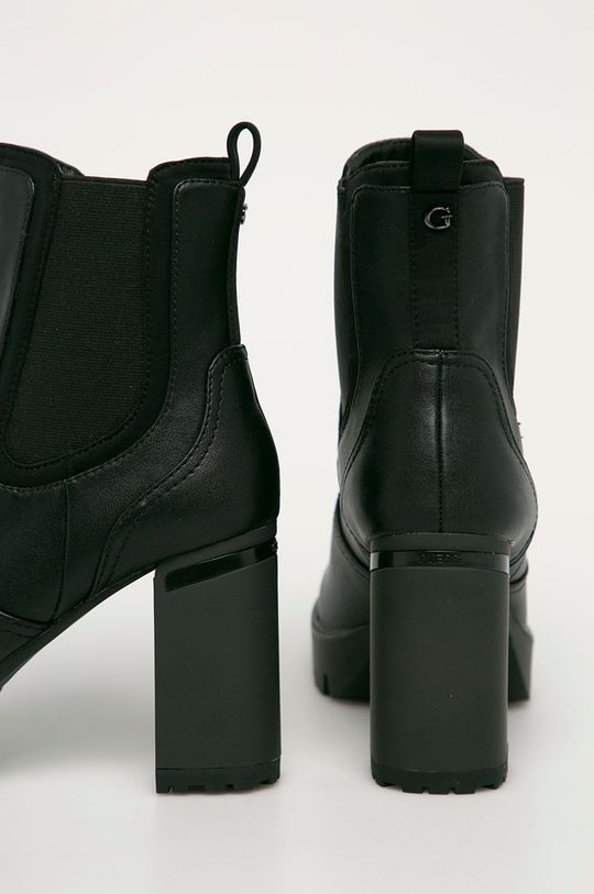 černá Guess Jeans - Boty s gumou