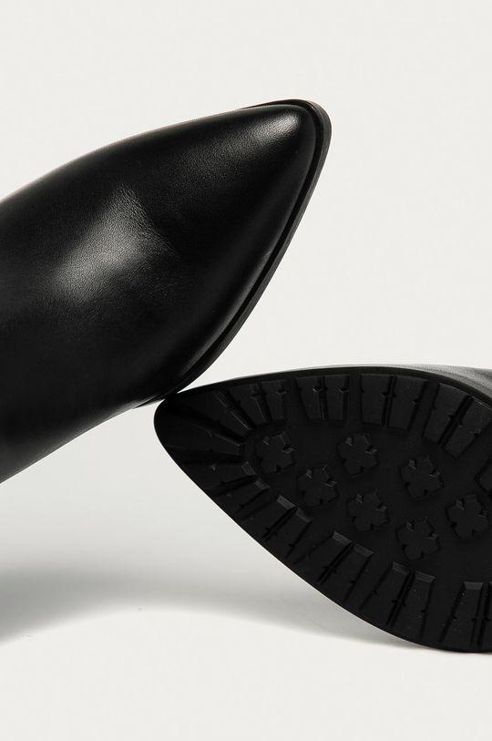čierna Aldo - Kožené členkové topánky Frasillo