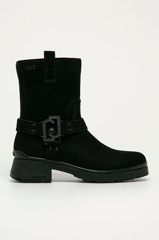 černá Liu Jo - Semišové boty Dámský