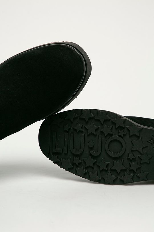 černá Liu Jo - Semišové boty