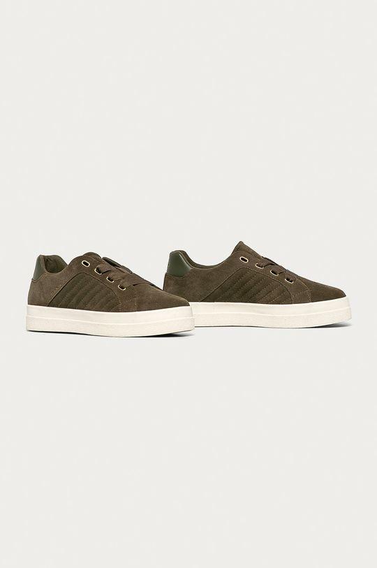 Gant - Semišové boty Avona olivová
