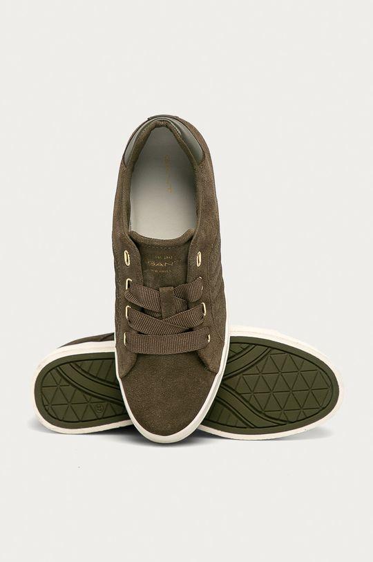 olivová Gant - Semišové boty Avona