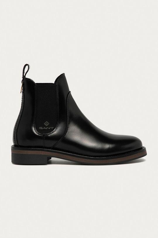 černá Gant - Kožené kotníkové boty Maliin Dámský