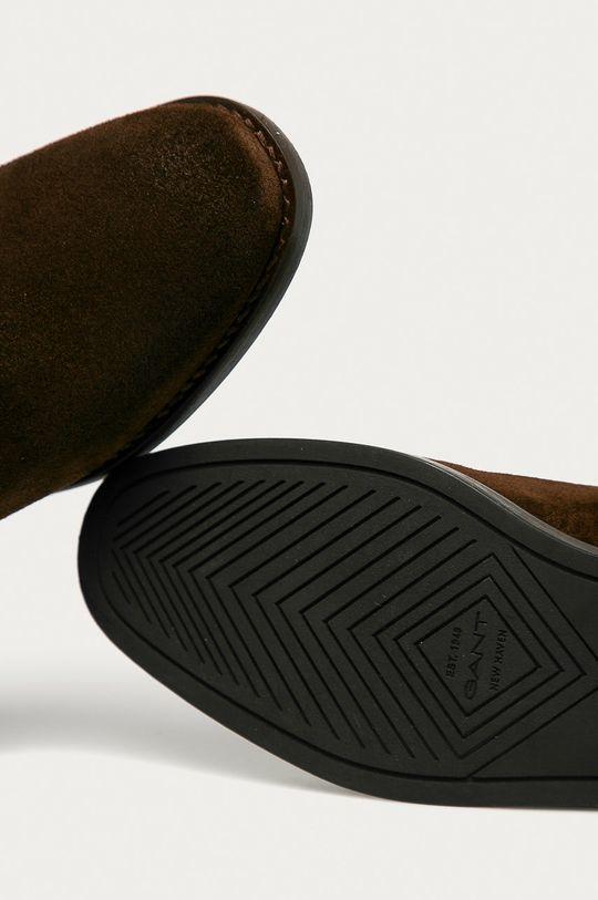 brązowy Gant - Sztyblety zamszowe Fayy