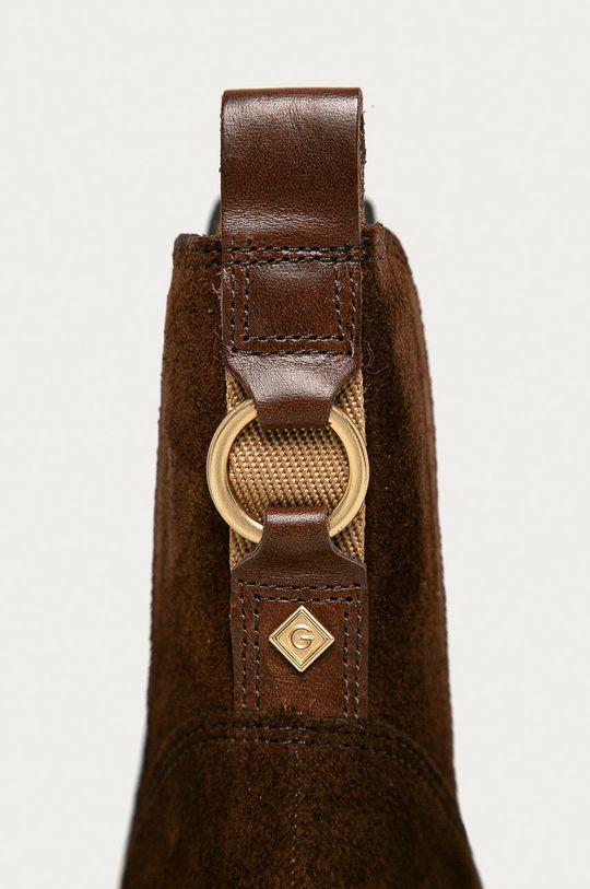 brązowy Gant - Sztyblety zamszowe Sealy