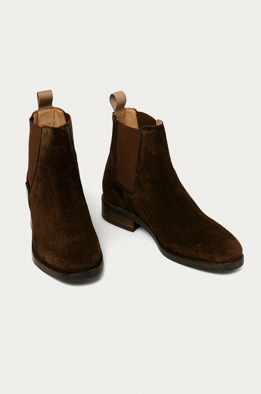 Gant - Sztyblety zamszowe Fayy brązowy