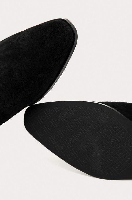 czarny Gant - Sztyblety zamszowe Isla