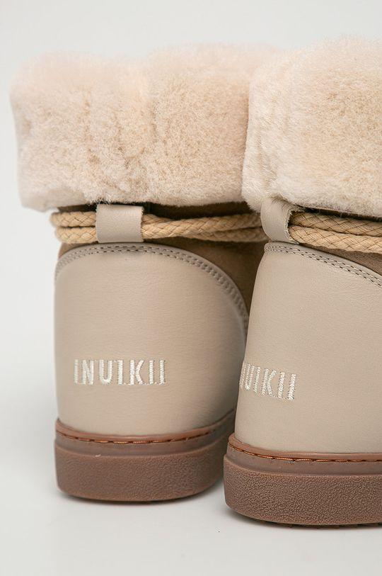beżowy Inuikii - Śniegowce skórzane