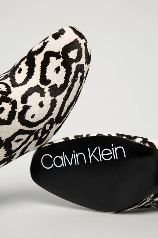 biały Calvin Klein - Botki zamszowe