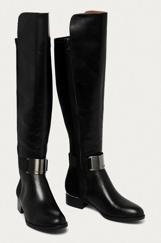 Calvin Klein - Vysoké čižmy čierna