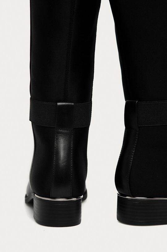 Calvin Klein - Vysoké čižmy  Zvršok: Textil, Prírodná koža Vnútro: Syntetická látka, Textil Podrážka: Syntetická látka