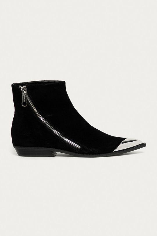 czarny Calvin Klein Jeans - Botki zamszowe Damski